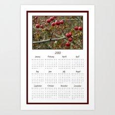 Berries 2013 Calendar Art Print