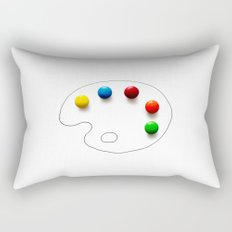 Artist's chocolate Rectangular Pillow
