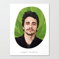 james franco Canvas Prints featuring James Franco by WeedPornDaily