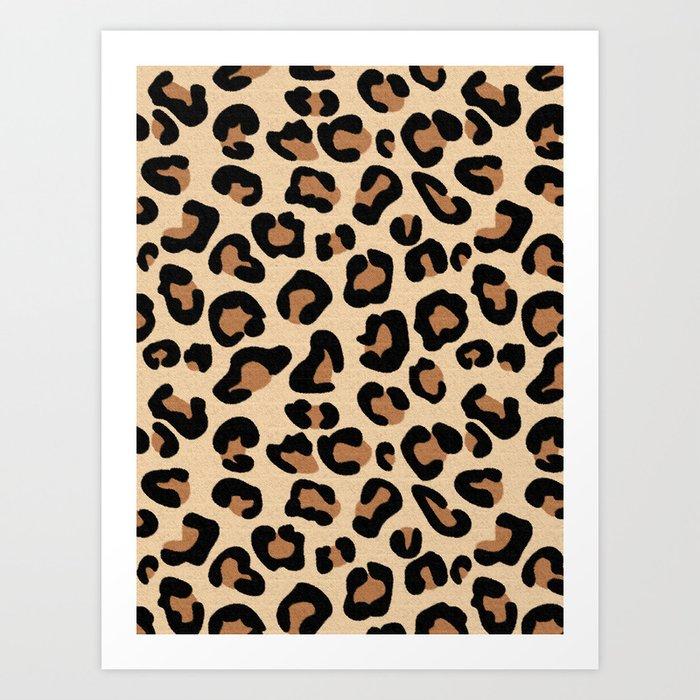 Leopard Print, Black, Brown, Rust and Tan Kunstdrucke