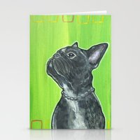 leon Stationery Cards featuring Leon by JNiggelArt