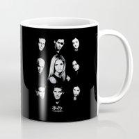 buffy Mugs featuring Buffy Cast Vector by Paul Elder