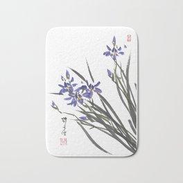 Blue Iris Orchid One Bath Mat