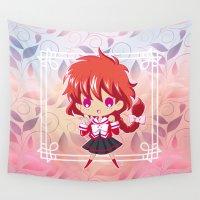 chibi Wall Tapestries featuring Chibi Hikaru by Neo Crystal Tokyo