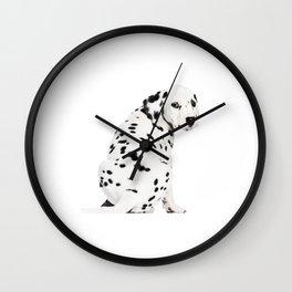 Cute Dalmatian 4 Wall Clock