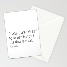 The Devil is a Liar #minimalism #quotes Stationery Cards
