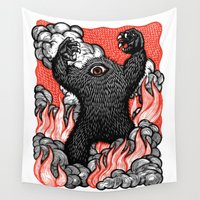 cyclops Wall Tapestries featuring A Monster Is Born! by Peter Nevins