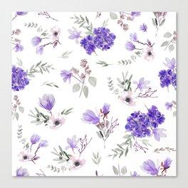 Blue pattern III Canvas Print