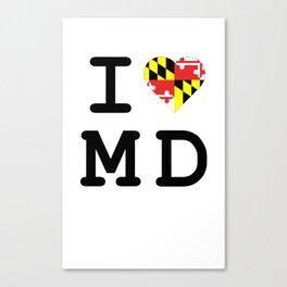 I Heart MD Canvas Print