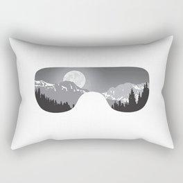 Moonrise Goggles - B+W - White Frame   Goggle Designs   DopeyArt Rectangular Pillow
