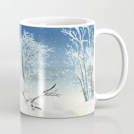 Magpie Winter Landscape Coffee Mug