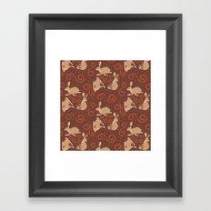 Hare Hoedown Framed Art Print