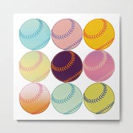 Pop Art Baseballs Metal Print