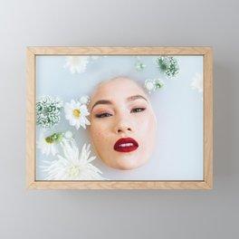Asian Woman in Milk Bath Framed Mini Art Print