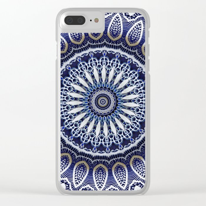 China Blue Clear iPhone Case
