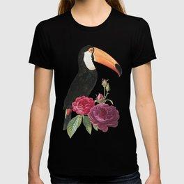 Toucan and Dark Rose T-shirt