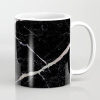 geology Mugs featuring Black Marble by Santo Sagese