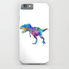 Dinosaur T-Rex Tyrannosaurus Rex Art Animals Nursery Decor Kids Room Watercolor Print Blue Purple Di iPhone Case