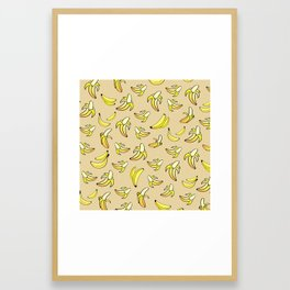 Banana Pattern 2 Framed Art Print