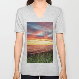 Dawn and the Grass Unisex V-Neck