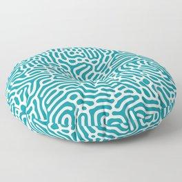 Turquoise Organic Pattern Floor Pillow