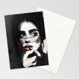 Perla - Portrait ink drawing Stationery Cards