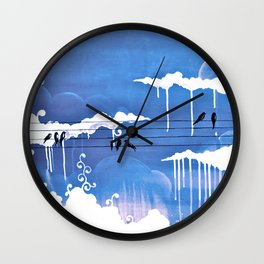pouring Wall Clock