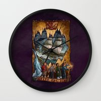the goonies Wall Clocks featuring Goonies Never Say Die by Taylor Rose