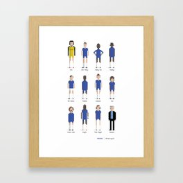Chelsea - All-time squad Framed Art Print