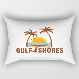 Gulf Shores - Alabama. Rectangular Pillow
