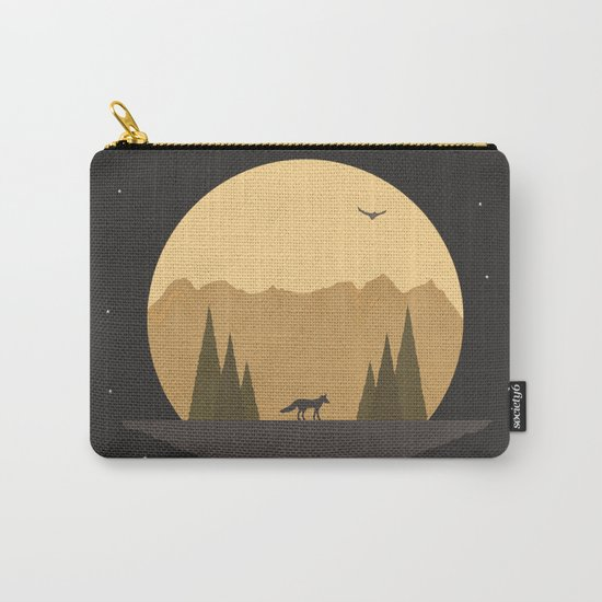 The Fox Under the Stars Carry-All Pouch