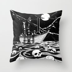 Steamboat across the Styx Throw Pillow