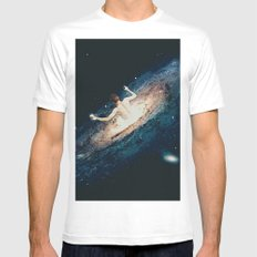 L A C T O S E White Mens Fitted Tee MEDIUM