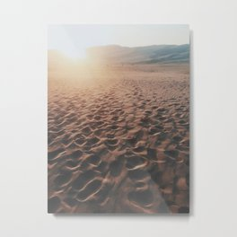 Footprints In The Desert Metal Print