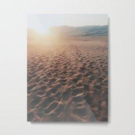 Desert Footprints Metal Print