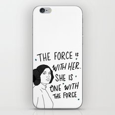 The Force is with Her iPhone & iPod Skin