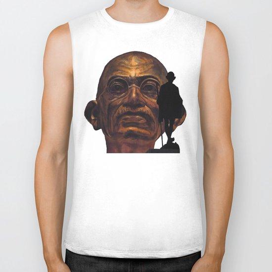 Gandhi - the walk - orange version Biker Tank