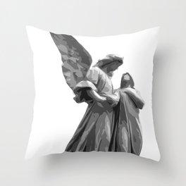 Angel Statue Throw Pillow