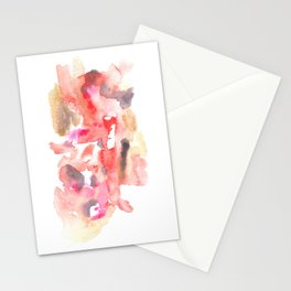 Watercolor Pink Black Gold Flow | [dec-connect] 38. relapse Stationery Cards