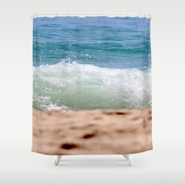 Crashing Ashore Shower Curtain