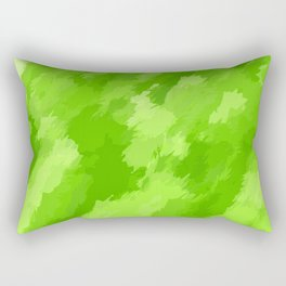 green painting abstract texture background Rectangular Pillow