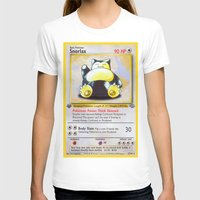 snorlax T-shirts featuring Snorlax Card by Neon Monsters