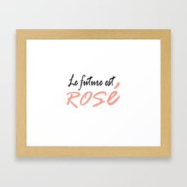le future est rose (the future is female in french) Framed Art Print