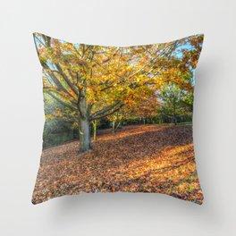 An English Autumn Throw Pillow