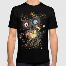 shocked in reverse Mens Fitted Tee Black 2X-LARGE