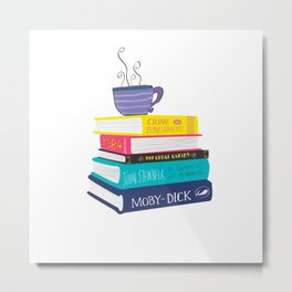 Lover of books Metal Print