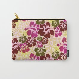 Hawaiian Hibiscus Pattern Carry-All Pouch