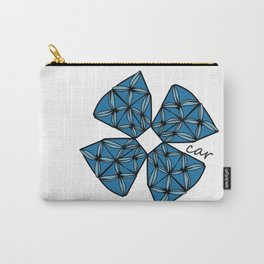 Large Blue Tapa Cross Carry-All Pouch