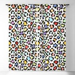 Trendy Multicolor Leopard Fur Effect Pattern Blackout Curtain