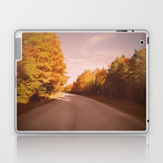 Autumn Road Laptop & iPad Skin